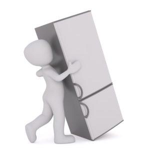 Verhuizen van een koelkast
